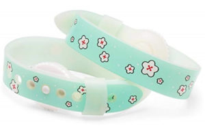 Psi Bands Acupressure Wrist Bands for the Relief of Nausea - Cherry Blossom By Psi Bands