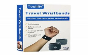 Travel Wristbands, Travel Motion Sickness Relief Wrist Band, Natural Nausea Relief, 2-Pair By Toulifly