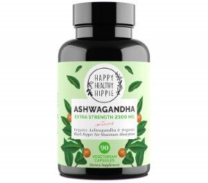 Organic Ashwagandha Root with Black Pepper by Happy Healthy Hippie (Custom)
