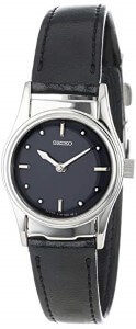 Seiko Women SWL001 Braille Black Leather Strap Watch